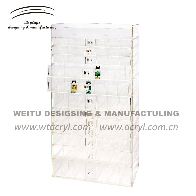 WJ-1209--Earrings acrylic Display Jewelry Display with drawer