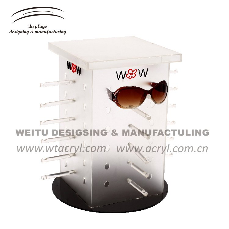 WED-034-- 4 side rotating glasses acrylic Display Holder Display
