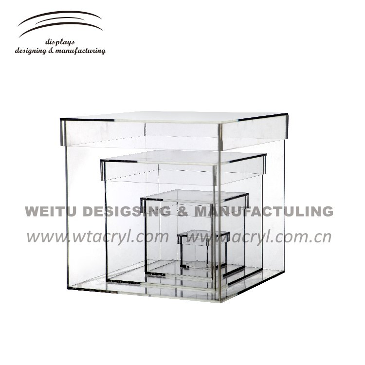 WN-053-- clear color acrylic box for All kinds of ornaments