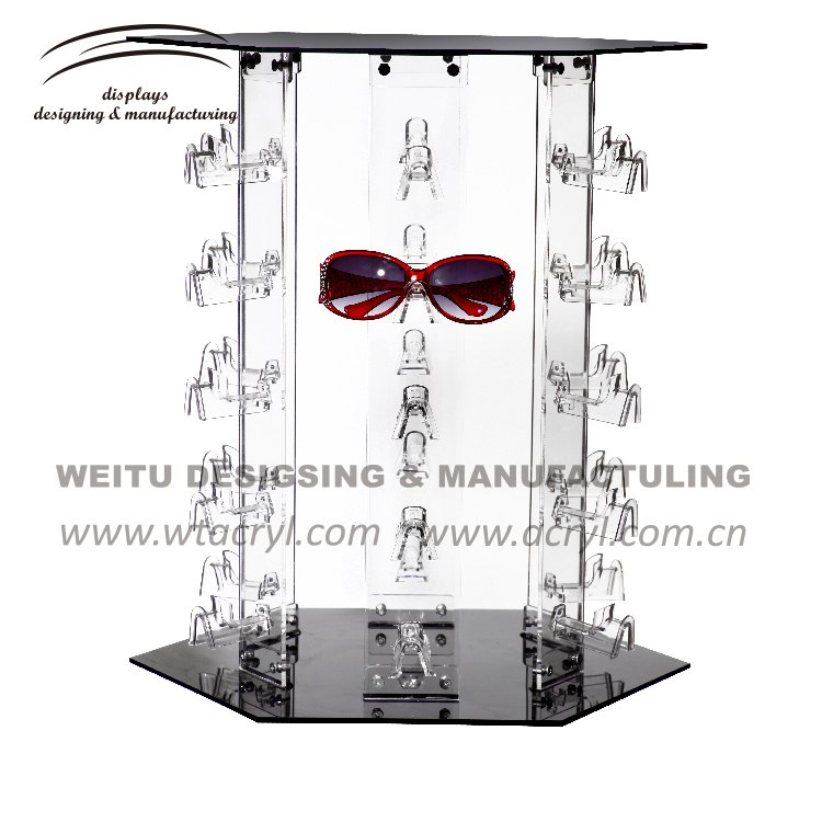 WED-027 --Creative acrylic rack glasses  jewelry display