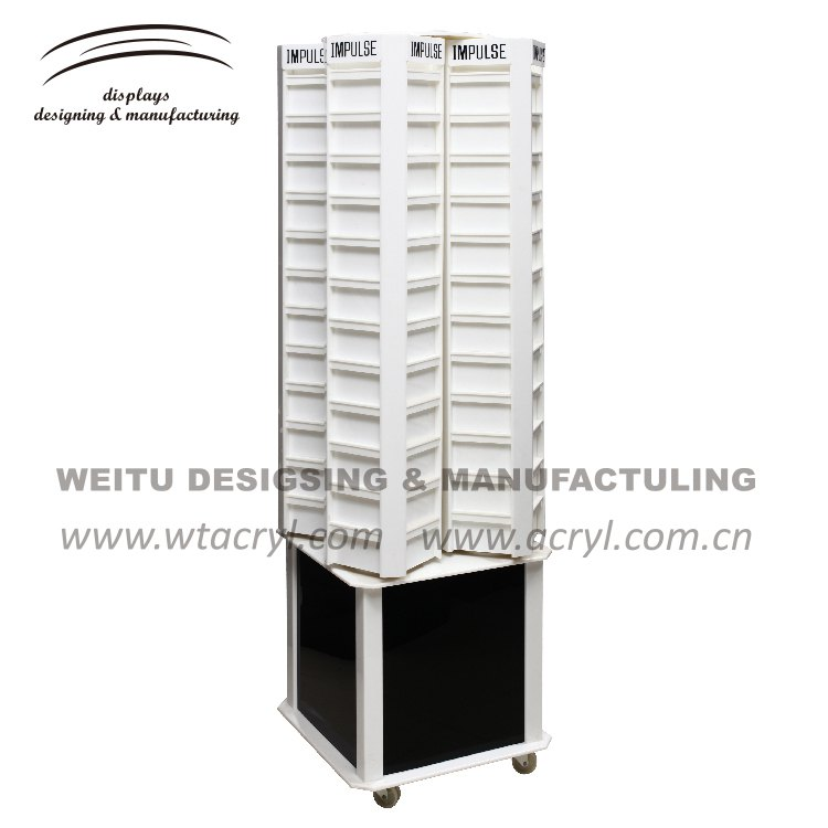 LA-1676-- 2017 weitu acrylic Display for 4sides to show with Advertising Display Stands