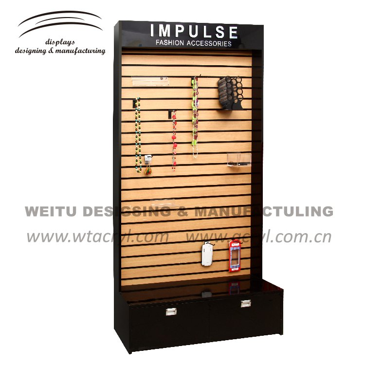 W-020--big display Jewelry Organizer Wood and acrylic Wall stands Jewelry Display
