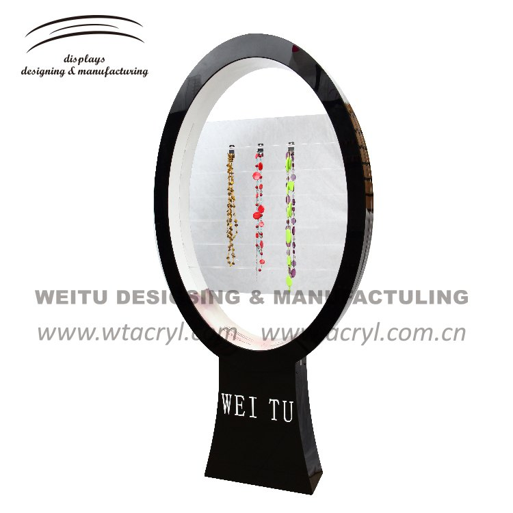 LA-1669-- 2017 weitu Custom  Acrylic Necklace Display Stand Jewelry Display