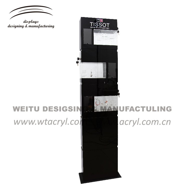 LA-1672--2017 new style Custom  big cabinet Acrylic Necklace Display Stand Jewelry Display